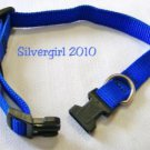 Adjustable Royal Blue Nylon Pet Collar