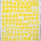 156 Yellow  Letters Stickers Acid Free Scrapbooking