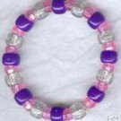 Sparkly Purple Pink Clear Bead Boutique Bracelet