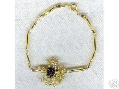 Fun Twisted Liquid Gold Tube Seed Bracelet