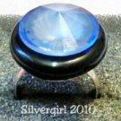 Fun Fashion Blue Gemstone Crystal Bead Ring SP