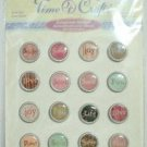 Time 4 Crafts Scrapbook Crafting Word Button Stickers