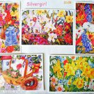 """5 Flower Note Cards With White Envelopes 6 1/2  x 4 1/2"""" Covenant House"""