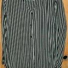 Black White Striped Antels SZ 44 Ladies Blouse Top SZ 42 Career-Casual