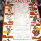 1978 Canadian Provincial Flowers Cloth Wall Calender