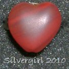 Fun Fashion 2 Tone Red Glass Heart Bead Ring Bronze