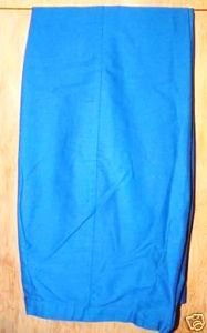 "Girl's Royal Blue 24 1/2"" Vintage Slacks"