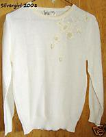 BARBARA SUE Soft Lightweight Knit Sweater SZ M