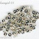 150 Rhodium Silver Earrings Butterfly Backs