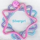 Set of 3 Shiny Star Shape Plastic Bracelets