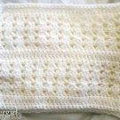 "Hand Crochet Scarf Snowy White 62"" x 10 1/2"""