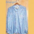 SIZE 44 Tandem Silver Gray Flower Blouse