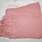 "Hand Knit Scarf Rose marie 65"" x 6 1/2"""