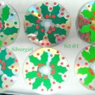 Handmade Set of 6 Holly Berry and Leaves CD Disc Drink Coasters
