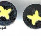 1 pr 2 Piece Metal Butterfly Pierced Earrings