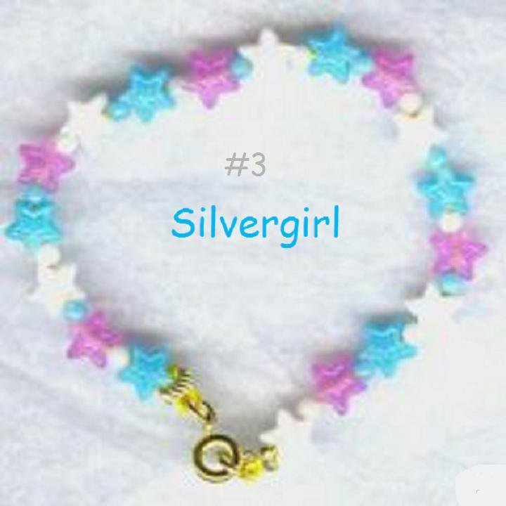 Dainty Pearl Blue White Purple Star Boutique Bracelet