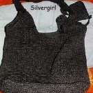 Knit Crochet Black Shoulder Purse