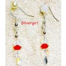 Sparkling Clear Red AB Crystal Glass Earrings