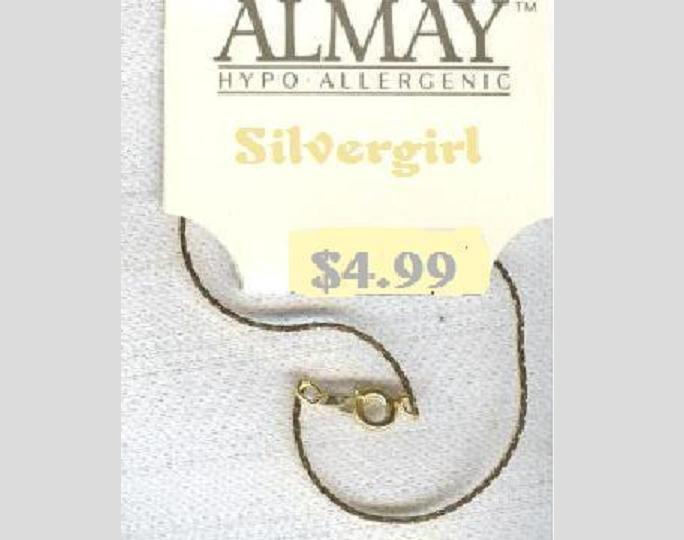 "7 1/4"" Almay Gold Plate Cobra Chain Bracelet"