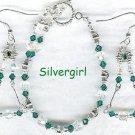 Emerald Swarovski Crystal Silver Allure Bracelet