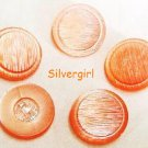 Textured Shimmery Pink Plastic Shank Vintage Buttons