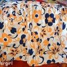 Bold Navy White Orange Vintage  Apron