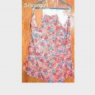 Bright Red Blue Floral Bib Apron