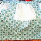 Pretty Blue Green White Vintage Apron