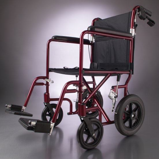 "New Lightweight Transport Wheelchair/Wheel Chair 12"" Wheels"