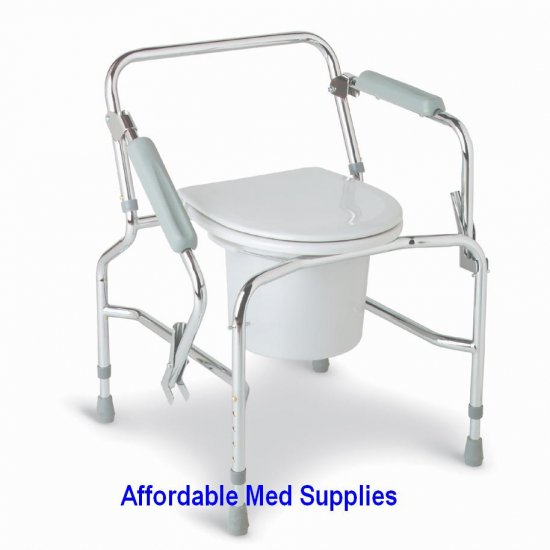 New Drop Arm Bedside Commode/Toilet Safety Frame