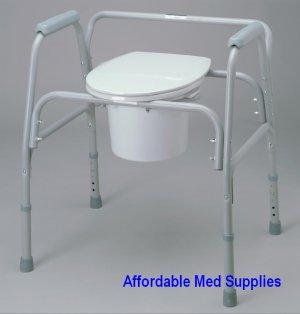 New Bedside Commode - Heavy Duty 650 Pound Capacity