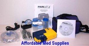New Pari Trek S Portable Nebulizer Combo Kit with Battery & Car Adapter
