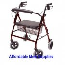 New Rollator Walker Bariatric 500 Pound Capacity Wide Seat