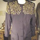 D Albert  blazer top Sz 8 nEw w tags black gold trim