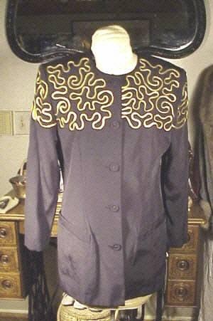 D Albert  blazer top Sz 8 nEw w tags black gold trim