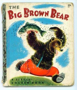 Vintage Little Golden Book ~ The Big Brown Bear