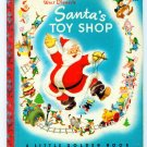 Vintage Little Golden Book SANTA'S TOY SHOP Red Spine