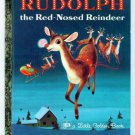 Vintage Little Golden Book RUDOLPH Red-Nosed Reindeer