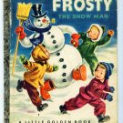 Vintage Little Golden Book ~ FROSTY the Snow Man