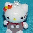 Hello Cute Kitty Pink Cat Glass Bead Pendant