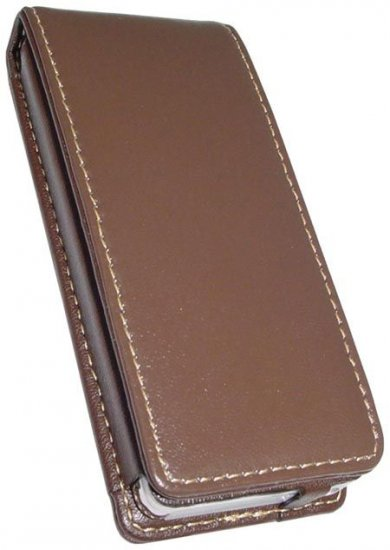 Leather Case (Brown) - For iPod Nano - SPECIAL SALE PRICE