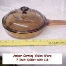 Amber Corning Visions Vision 7 inch Waffle Bottom Skillet w/ Lid