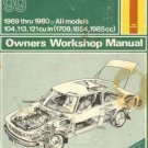 Haynes Saab 99 1969 thru 80 All Models Owner's Workshop  Manual