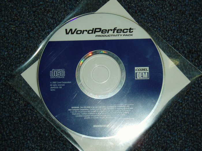2002 Corel Word Perfect: Productivity Pack (*OEM)