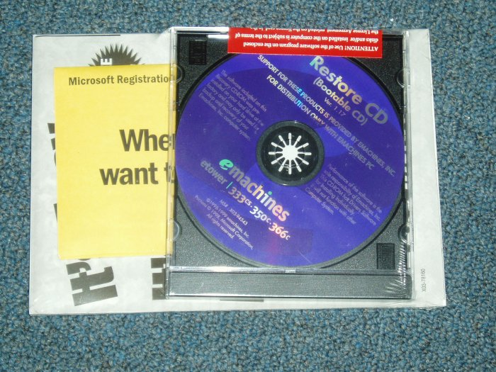 Emachines Restore CD Package for Win 98