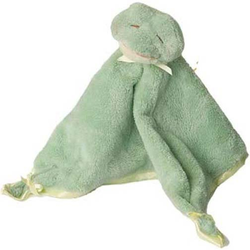 Douglas Plush Green Frog Blankie - Best & Softest on Market!