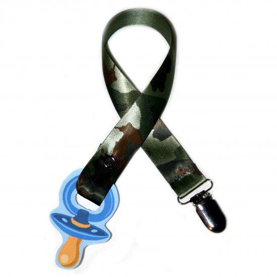 Snigglefritz Camo Ribbon Paci Clip - Clip with STYLE! - FREE SHIP!