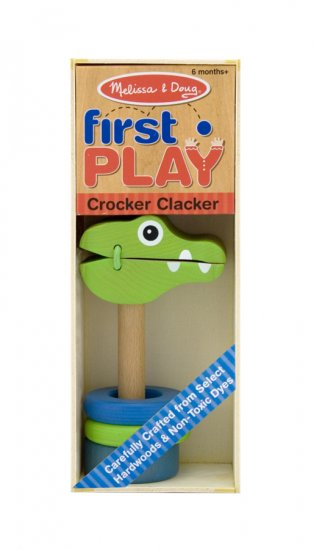 Melissa & Doug Crocker Clacker Development Wooden Toy