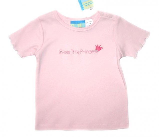 """Happy Happy Halo Pink """"Bless this Princess"""" Infant Tee"""