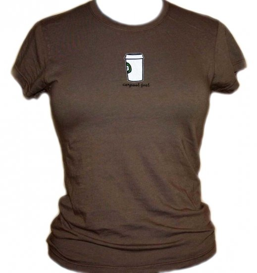 "Darling Mummy Brown ""Carpool Fuel"" Short Sleeve Tshirt"